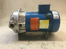 GOULDS ITT PUMP, 1 X 1 1/4-6, IMP DIAM. 4/16, WITH EMERSON MOTOR, 1/2 HP, USED