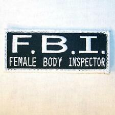 FBI BODY INSPECTOR EMBROIDERED PATCH P435  Iron on biker JACKET patches NEW FBI