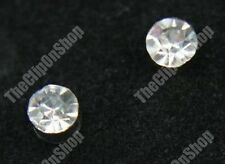 CLIP ON magnetic DIAMANTE 4mm crystal studs RHINESTONE EARRINGS non-pierced