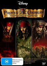 Pirates Of The Caribbean - 3 Movies (DVD, 2007, 6-Disc Set) - Excellent Con - R4