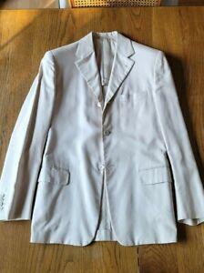 Prada suit jacket coat blazer beige tan cotton 40 us 50 eu