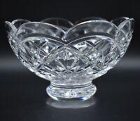 "Waterford Irish Cut Crystal Cullen 8"" Footed Bowl"