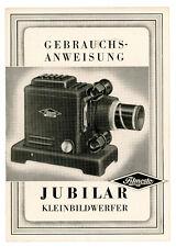 VEB FILMOSTO Bedienungsanleitung JUBILAR Kleinbildwerfer User Manual (Y532