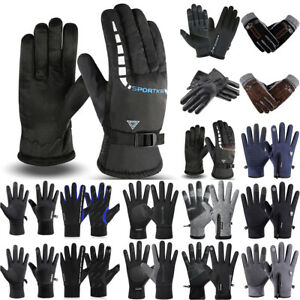Men Warm Winter Motercycle Cycling Gloves Windproof Thermal Touch Screen Gloves