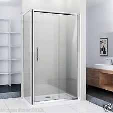 Duschkabine Duschabtrennung Echtglas Dusche Schiebetür Duschwand 120x90x185cm