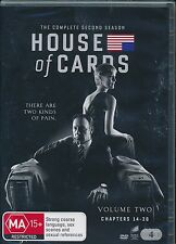 House Of Cards The Complete Second Seasons DVD NEW Kevin Spacey Region 4