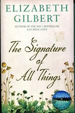 THE SIGNATURE OF ALL THINGS book by Elizabeth Gilbert ISBN 978-1-4088-5011-4