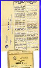 Garanzia+Istruzioni-Vintage Warranty-Lucidatrice Suction Polisher  ARIETE-BIMAK