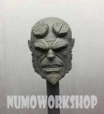 "Hellboy 1/6 Scale CUSTOM UNPAINT HEAD for 12"" Body Figure by Numo ** New"