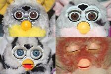 Vintage Furby Lot Of 4 1998 70-800 2005 Emoto-tronic Tiger Hasbro Non Working