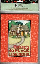 Mary Engelbreit 10 Blank Note Cards ~ There's No Place Like Home Notecards