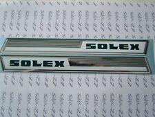 2 'AUTOCOLLANTS DE POUTRE SUR FOND CHROME N°1  5000 SOLEX VELOSOLEX