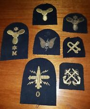 Royal Navy Gold Thread Embroidered Cloth Patch / Badge / Insignia