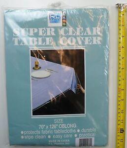 RL Plastic, Heavy Duty, Super Clear and Durable 100% Vinyl Tablecloth Protector