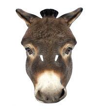 ASINO ANIMALE 2D Maschera Di Cartone FESTE COSTUME TRAVESTIMENTO zoo fattoria