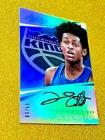 2017 De'Aaron Fox Panini Absolute Rookie Autograph /99 On Card Auto AR-DF Gem RC