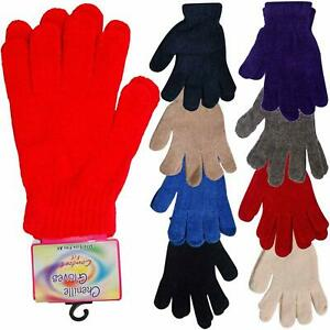 Womens Gloves Ladies Chenille Woolly Knitted Stretchable Warm Magic Glove