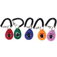 Universal Pet Trainer Dogs Training Clicker Key Chain Pets Trainings Tools  P4PM