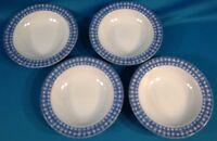 Oneda Blue Heather Rimmed Soup Bowl Set of 4