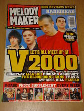 MELODY MAKER 2000 AUG 16 RADIOHEAD COLDPLAY MANSUN BECK