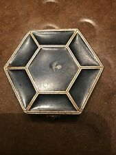 "Antique Vintage Art Deco small diminuitive Compact 2 1/8"" x 1 7/8"" Beauty Makeup"