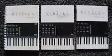 Miracle Piano Nintendo -Owner's Manual Instruction Booklet & Users Guide 3 BOOKS