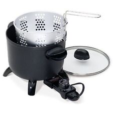 Presto 06006 Kitchen Kettle Multi-Cooker/Steamer Black 10.2 X 8.3 X 10.4 Inches