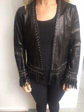 Sylvie Schimmel Fringed Leather Jacket / Black / RRP: $1,895.00