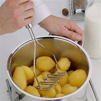 Kitchen Stainless Steel Potato Egg Masher Ricer Vegetable Fruit Crusher  FA