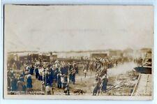 1910 Barnum & Bailey's Circus tent fire, Schenectady N.Y., photo postcard RPPC