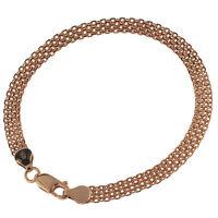 Damen Armband Herringbone flach echt Silber 925 Sterlingsilber rosegold gold