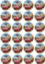 Cars McQueen Hook 24 Muffinaufleger Tortenaufleger Oblate Waffel Brownies 3*