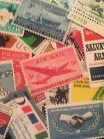 50 Different MNH Vintage 5 Cent Stamps