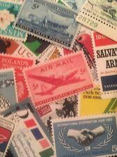 30 Different MNH Vintage 5 Cent Stamps