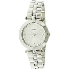 Timex Women's Style Elevated TW2P79100 Silver Stainless-Steel Fashion Watch