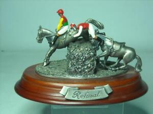 Horse Racing Figurine REFUSAL Mark Models Craftsman Studio Sculpture Figurine