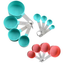 8pcs Stainless Steel Measuring Cups Spoons Baking Cooking Coffee Kitchen Tools