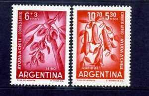 SEIBO,- OF ARGENTINA,-  COPIHUE OF CHILE   semi postal 1960