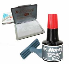 PERMANENT RED INK For Stamp Pad Waterproof 30 cc Plastic Paper Wood Metal Tinte
