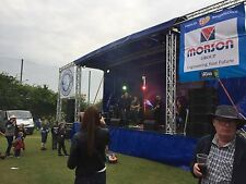 Outdoor Festival Stage Hire - Medium profile stage 7.5m (11.5m with PA wings)
