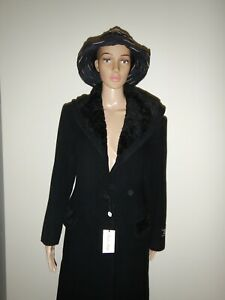 Vintage full length Cashmere coat with fur collar.