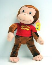 "New CURIOUS GEORGE 21"" Large Plush MONKEY Doll"