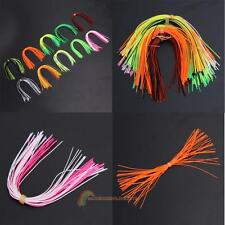 10 Bundles Silicone Leg Barred Flake Fly Tying Material Squid Skirts Lure Thread