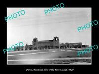 OLD LARGE HISTORIC PHOTO OF PARCO WYOMING, VIEW OF THE PARCO HOTEL c1920
