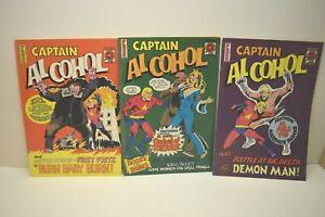 Captain Alcohol Comic North West Territories Canada Arctic Comics Lot of 3