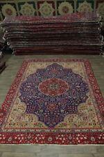 Rare Floral Design Handmade Antique Tabriz Persian Rug Oriental Area Carpet 9X12