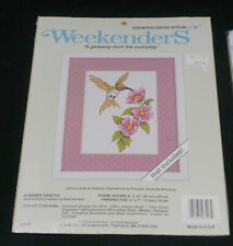 WEEKENDERS COUNTED CROSS STITCH KIT, SUMMER SWEETS, HUMMINGBIRD, FLOWERS, NEW