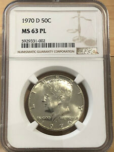 scarce PROOF-LIKE 1970-D Kennedy Half Dollar UNCIRCULATED key NGC MS-63 PL