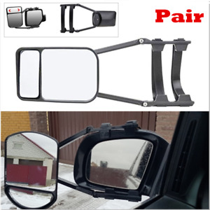 2PC Clip-On Towing Mirror for Caravan Trailer Safe Hauling Adjustable Extension
