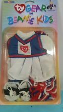 ty gear for beanie kids cheerleading dress shoes and poums in original package